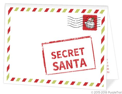 Top Secret Santa Red Holiday Party Invitation Holiday Party Invitations Secret Santa Email Template