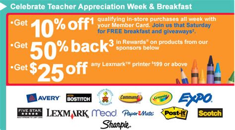 Office Depot Coupons For Teachers Minnesota Coupon Adventure Celebrate Appreciation