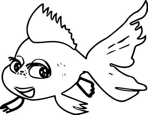 coloring pages of cod fish fish coloring page 3059
