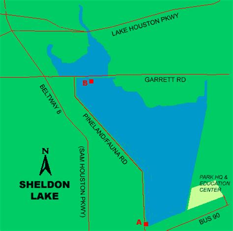 texas bank fishing map sheldon lake access