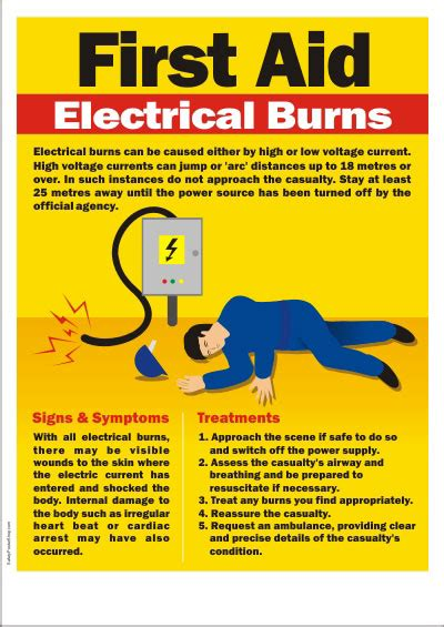 the truelist using electricity books safety poster aid for electrical burns safety