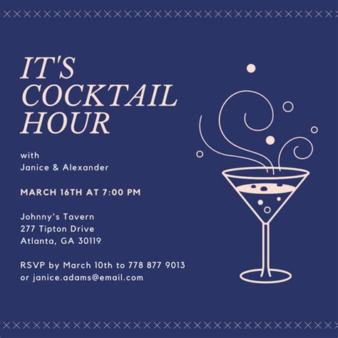 happy hour template happy hour invitation templates canva