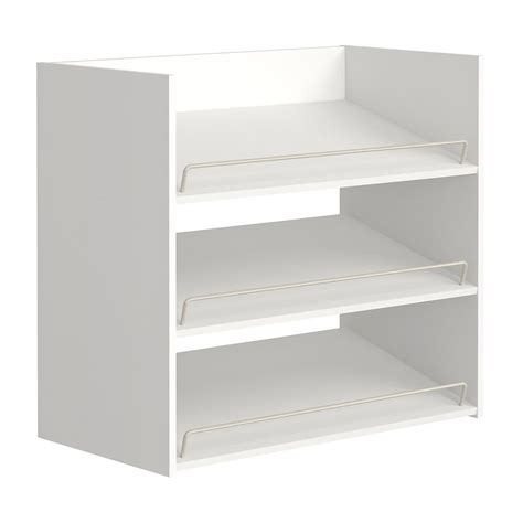 closetmaid wood shelf closetmaid impressions 3 shelf white shoe organizer 14905