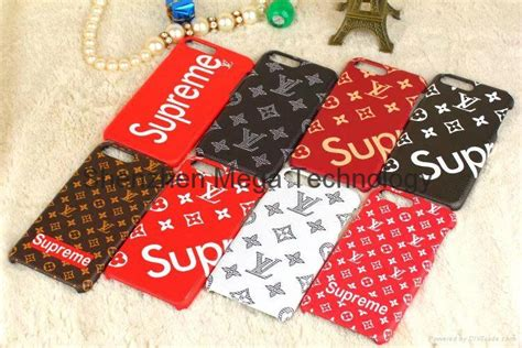 Lv Iphone 6 6plus 7 7plus 8 colors lv supreme pc back cover for iphone 7