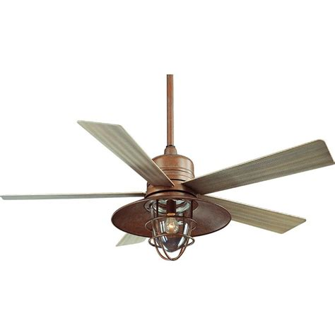 Patio Ceiling Fans With Lights Hton Bay Metro 54 In Rustic Copper Indoor Outdoor Ceiling Fan Shop Your Way