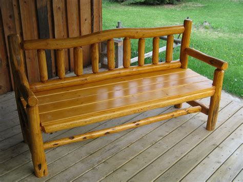 western bench rustic wood benches higher ground log furnishings