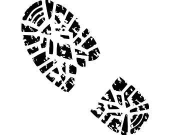 Sepatu Footstep Footwear Nitro Navy combat boot print etsy