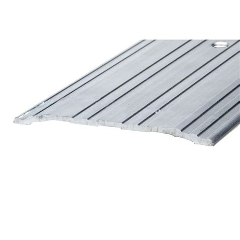 Aluminum Door Thresholds Exterior King E O 5 5 8 In X 3 Ft Silver Brown Fixed Sill Threshold Ts36a The Home Depot