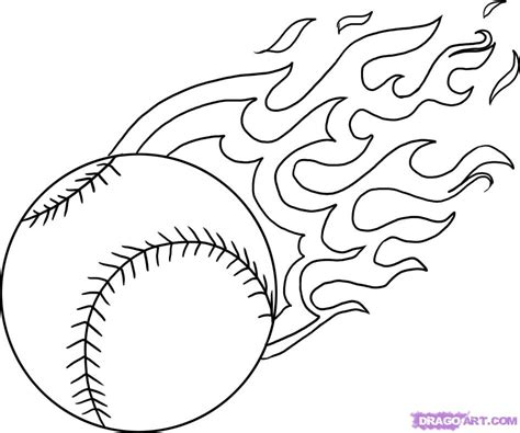 baseball ball flames cool coloring pages coloring pages kids coloring pages boys
