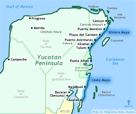 map of mexico showing cancun cancun riviera mexico map