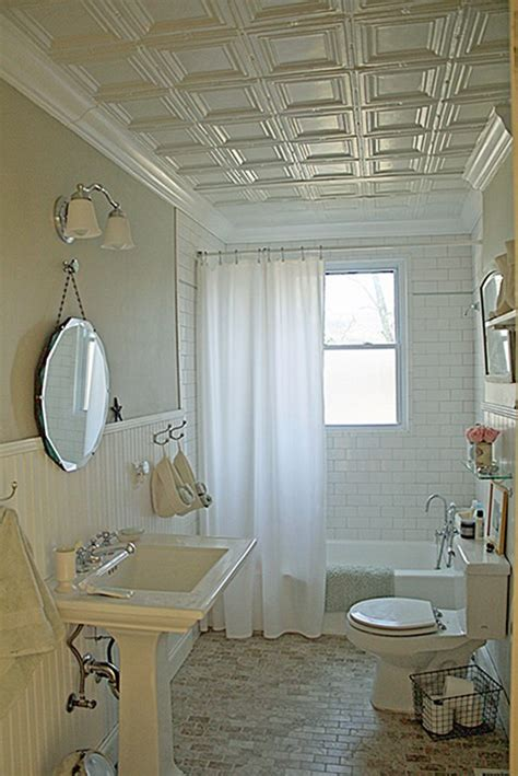 tiled ceiling in bathroom maison decor tin ceilings