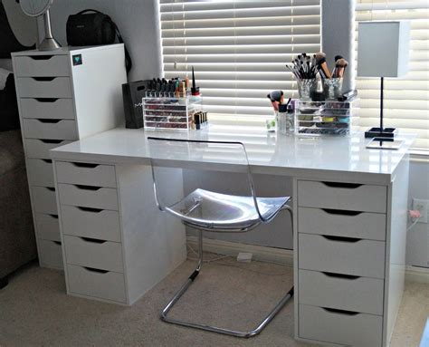 makeup desk with drawers makeup addicts welcome glam pinterest tall drawers