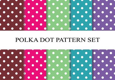 Polka Dot Pattern Download | colorful polka dot pattern set download free vector art