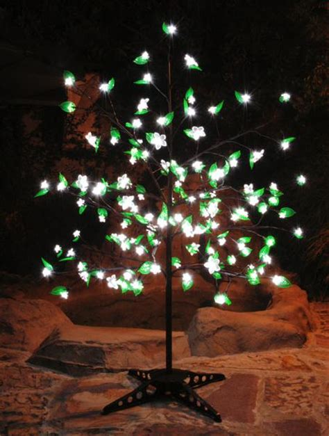 outdoor lighted trees object moved