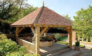 Backyard Sawmill Square Oak Gazebo For Use As Tub Shelter