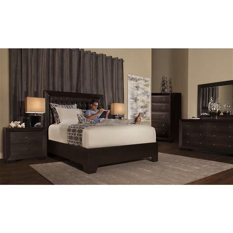 city view bedroom set city furniture adele2 dark tone platform bedroom