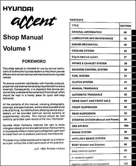 1998 hyundai accent original shop manual set l gs gl ebay 1995 hyundai accent original repair shop manual set l