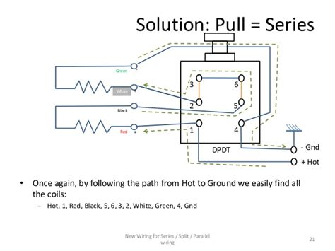series parallel wiring diagram for 4 conductor humbucker