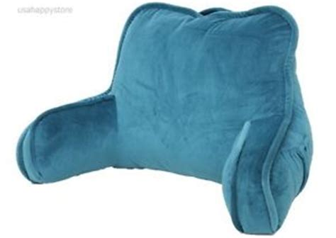 bed rest reading pillow arms plush polyester fabric back support bed lounge soft ebay