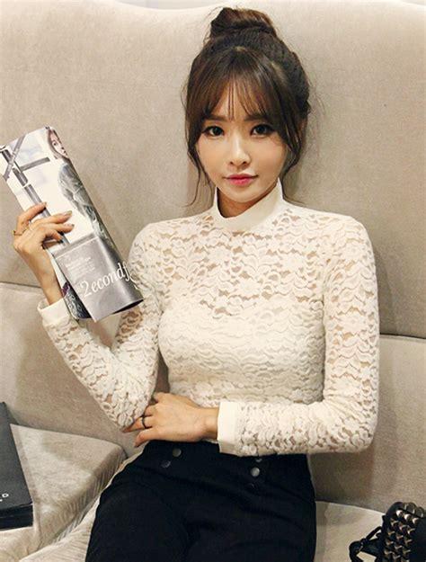 Blouse Atasan Kemeja Sweater Kotak Korea K Pop Hem Import Grosir 1 dabagirl lace cropped top kstylick korean fashion k pop styles fashion