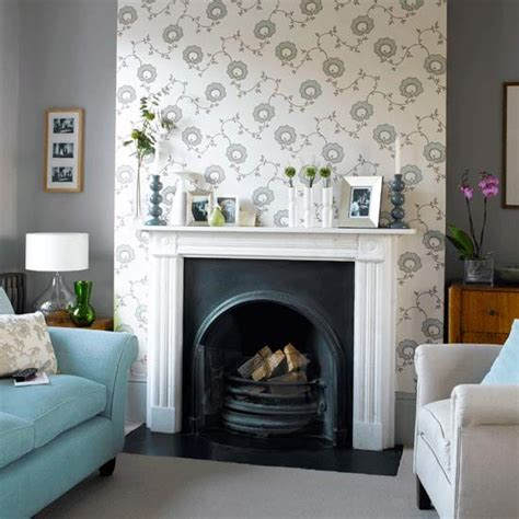 Decorating Ideas For Living Room With Chimney Breast How To Wallpaper A Chimney Breast
