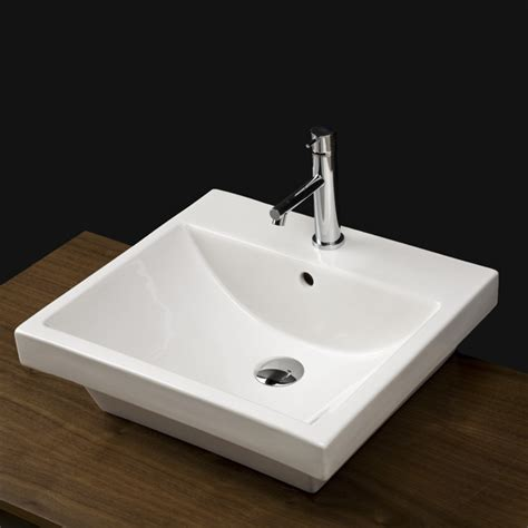 lacava bathroom sinks lacava 4272 piazza wall mount porcelain sink with overflow
