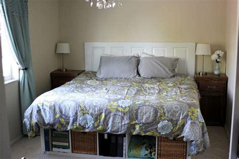 diy bed platform with ikea expedit vanilla