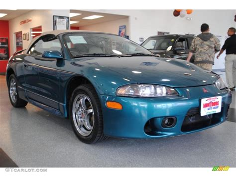 mitsubishi eclipse spyder turbo 1997 monarch green pearl metallic mitsubishi eclipse
