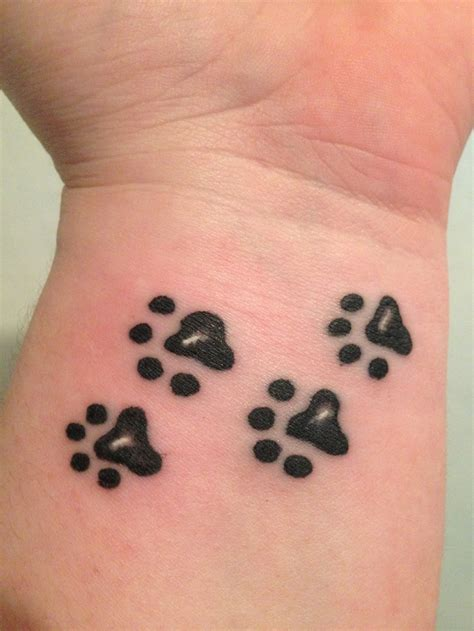 paw prints on wrist 50 best tatoo images on ideas animal