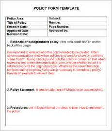writing policies and procedures template 6 policy and procedure templates pdf doc
