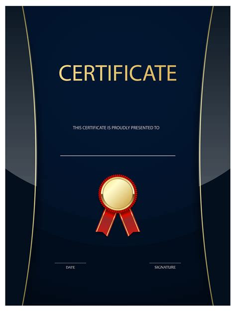 dark blue certificate template png image gallery