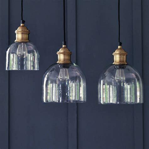 brass pendant light kitchen flori glass pendant brass by rowen wren