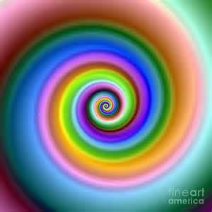 colorful swirls bright colorful fractal swirl digital