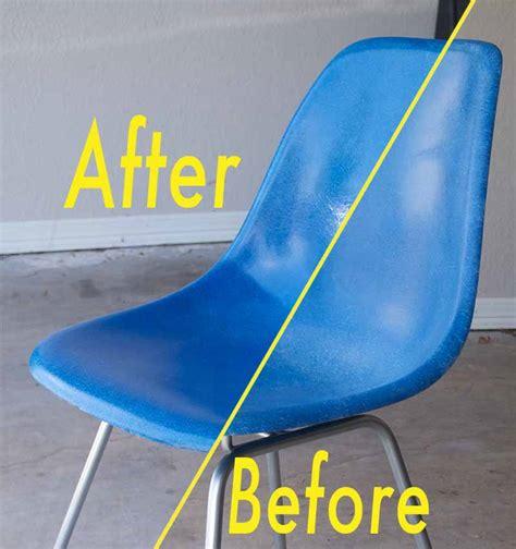 eames fiberglass shell chair restoration part