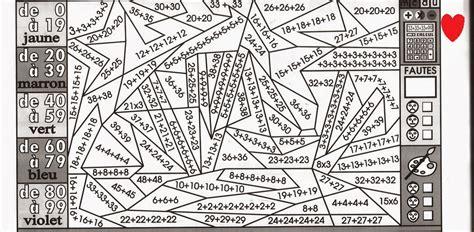 Coloriage Magique Multiplication Ce2 Coloriage Magique Ce2 Calcul A Imprimer L