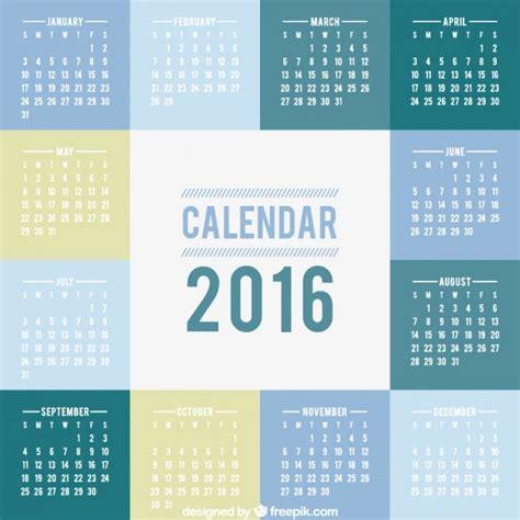 calendar design ai 2016 calendar with squares vector free download