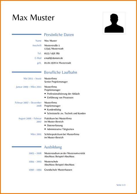 Lebenslauf Vorlagen Schuler Tabellarischer Lebenslauf Vorlage Sch 252 Ler Transition Plan Templates