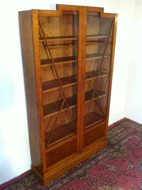 deco oak bookcase antiques atlas