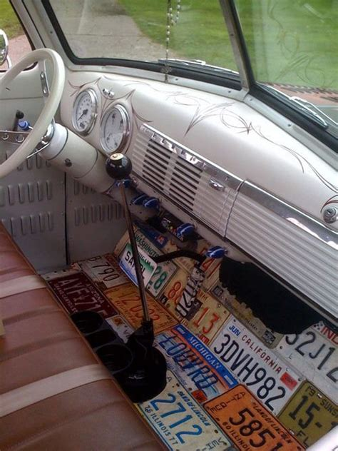 volkswagen pickup interior cool idea on the floor for vw bus license plates fab