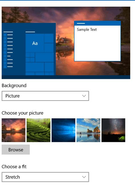 wallpaper windows 10 how to change how to change desktop wallpaper using windows 10 settings