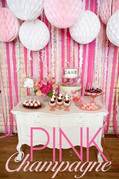Secret Themed Bridal Shower by Dessert Table Theme Pink Chagne Favorite Details