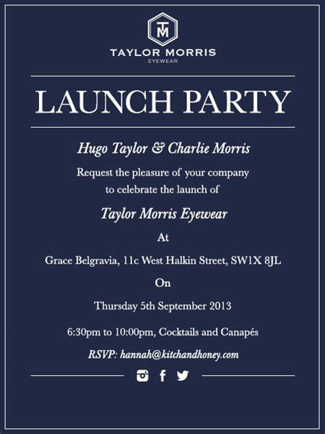 launching invitation card design portraits of london launch party party invitations and