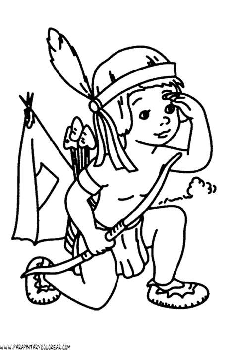 Dibujos De Indios Y Vaqueros Para Colorear Dibujosnet Indios Para Colorear