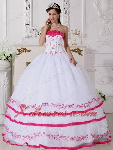 pink and white dress hot pink and white wedding dresses naf dresses