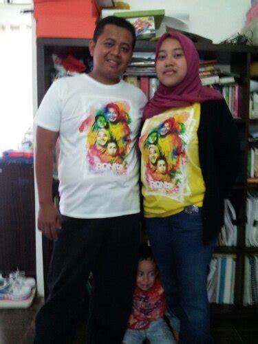 Kaos Keluarga Keren Custom oblong digital pusatnya sticker vinyl custom helmet dan