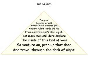 pyramid poem template reading and writing