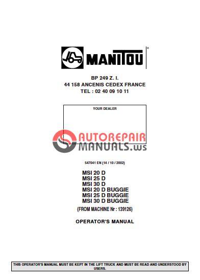 Manitou Msi 20 25 30 D Msi 20 25 30 D Buggie Operator