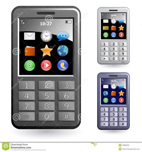 mobile phone set mobile phones icon set royalty free stock images image