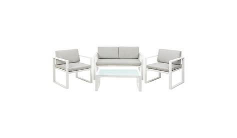 Asda Nursery Furniture Sets Ibiza 4 Sofa Set White And Grey Home Garden George At Asda