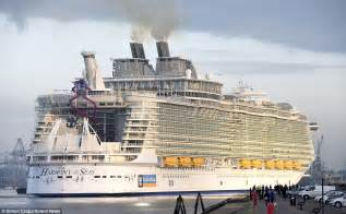 largest cruise ship harmony of the seas makes titanic look a minnow as it docks in britain daily mail online